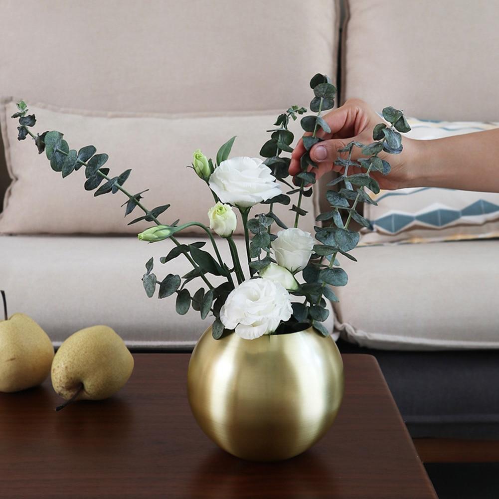 Jarrones para mesa, artesanías portátiles, floreros de acero inoxidable, modernos adornos de moda para el hogar, suministro de dormitorio