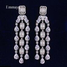 Emmaya chaude bohème magnifique goutte blanche AAA zircone boucles doreilles femmes mode gland bijoux fête de mariage fascinant ornement