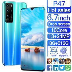 Sailf p47 android 10.0 octa núcleo do telefone móvel 6.7 ffhd + 16mp triplo câmera 8g ram 512gb rom smartphone gsm wcdma desbloqueado