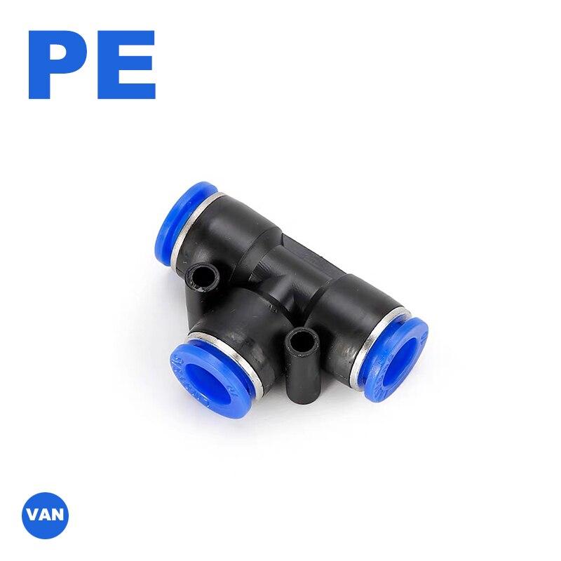Válvula de acelerador PE 4-12mm, válvula de Control de velocidad de flujo de aire, manguera de agua, accesorios de empuje neumáticos