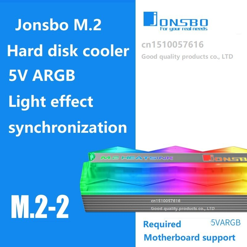 JONSBO M.2-2  Hard disk cooler 5V Symphony Edition supports motherboard 5V ARGB light effect synchronization
