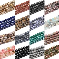 natural stone matte tiger eye morganite agates stone round beads for jewelry making diy bracelet 15 4mm6mm8mm10mm12mm