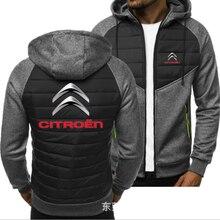 2021new Men for CITROEN Print Spring Autumn Mens Jacket Casual Sweatshirt Long Sleeve Mens zipper Ja