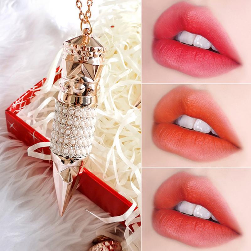AGAG reina cetro lápiz labial un tri-color mate suave niebla koi sangre de vaca lápiz labial pintalabios, maquillaje de labio TSLM1