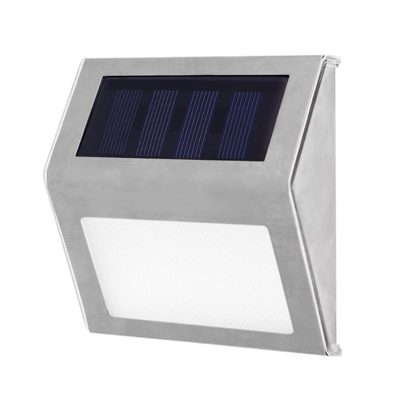 3LED luz alimentada por energía Solar pared valla puerta escalera exterior jardín lámpara impermeable Ip64 recargable LED luz Solar