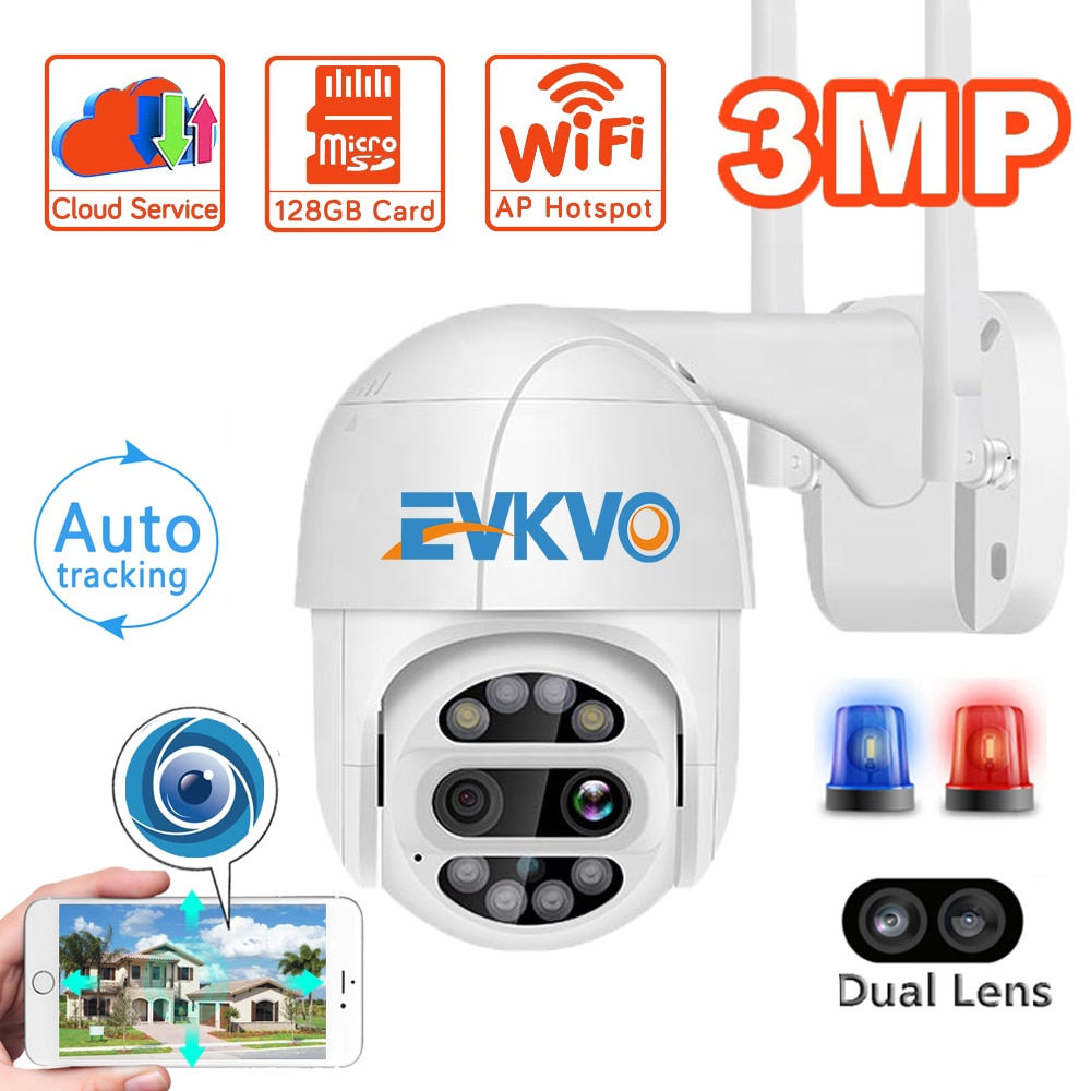 YCC3653 MP Dual-Objektiv Wifi PTZ Kamera 2MP 4X Zoom Auto Tracking Home Security IP Kamera Outdoor P2P Audio CCTV Speed Dome Kamera