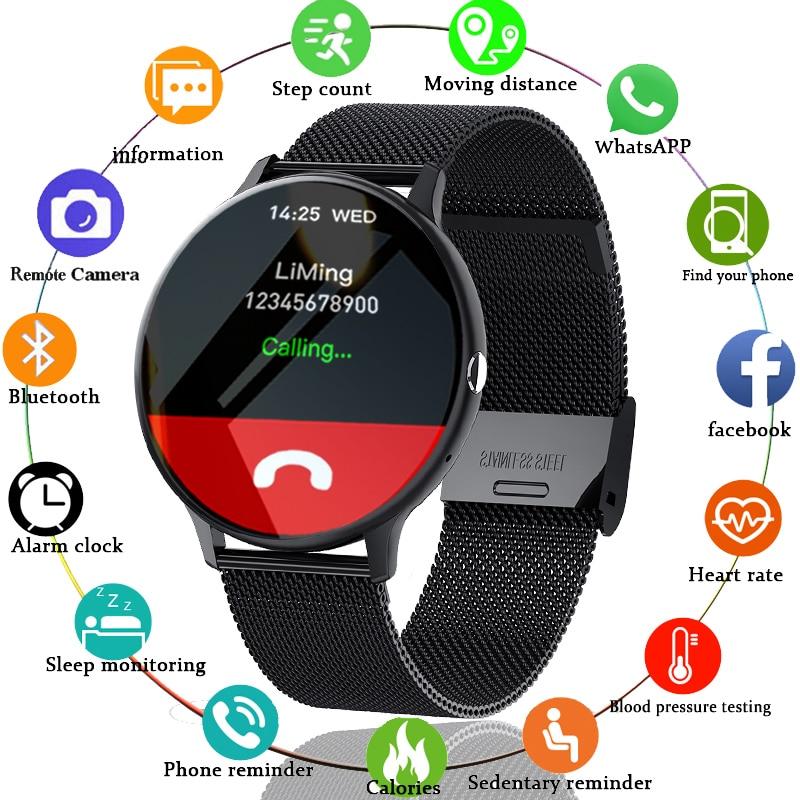 LIGE 2021 New Bluetooth call smart watch men women Sport mode Heart rate and blood pressure monitor