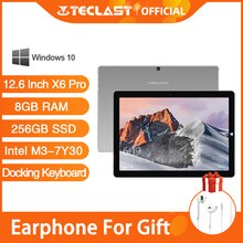 Teclast X6 Pro Tablet Netbook Windows 10 ekran dotykowy Intel Core M 8GB RAM 256GB SSD 12.6 Cal 2880*1920 FHD IPS USB3.0