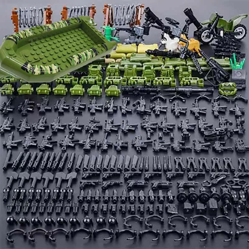 Blocos de construção da série militar, brinquedos para crianças, swat, polícia, armas, exército, segunda guerra mundial, acessórios