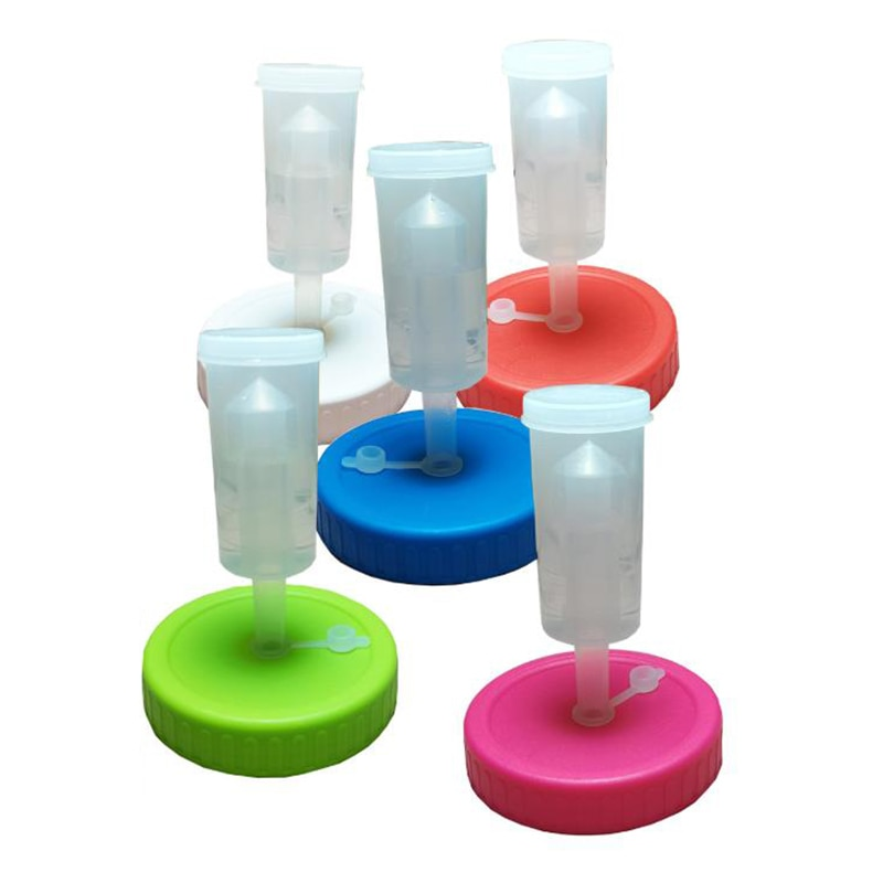 5 قطعة الفم ميسون الجرار الأغطية التخمير الأغطية مع airlock التخمير عدة لصنع مخلل الملفوف في الفم واسعة ميسون الجرار