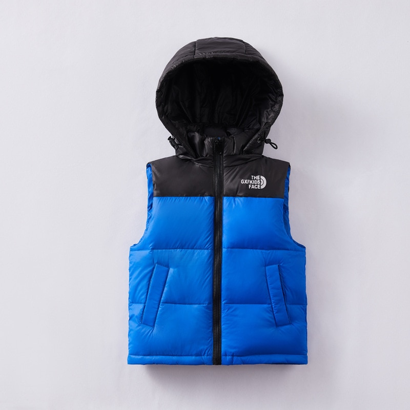 OASHTH Kid's clothing autumn and winter down jacket vest 2T-14T boys and girls lightweight outer wear vest enlarge