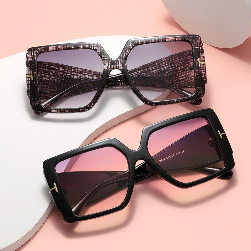 Square Women SunglassesGradient Multicolor  Personalized T-Shaped Glasses Men Brand Design Outdoor S