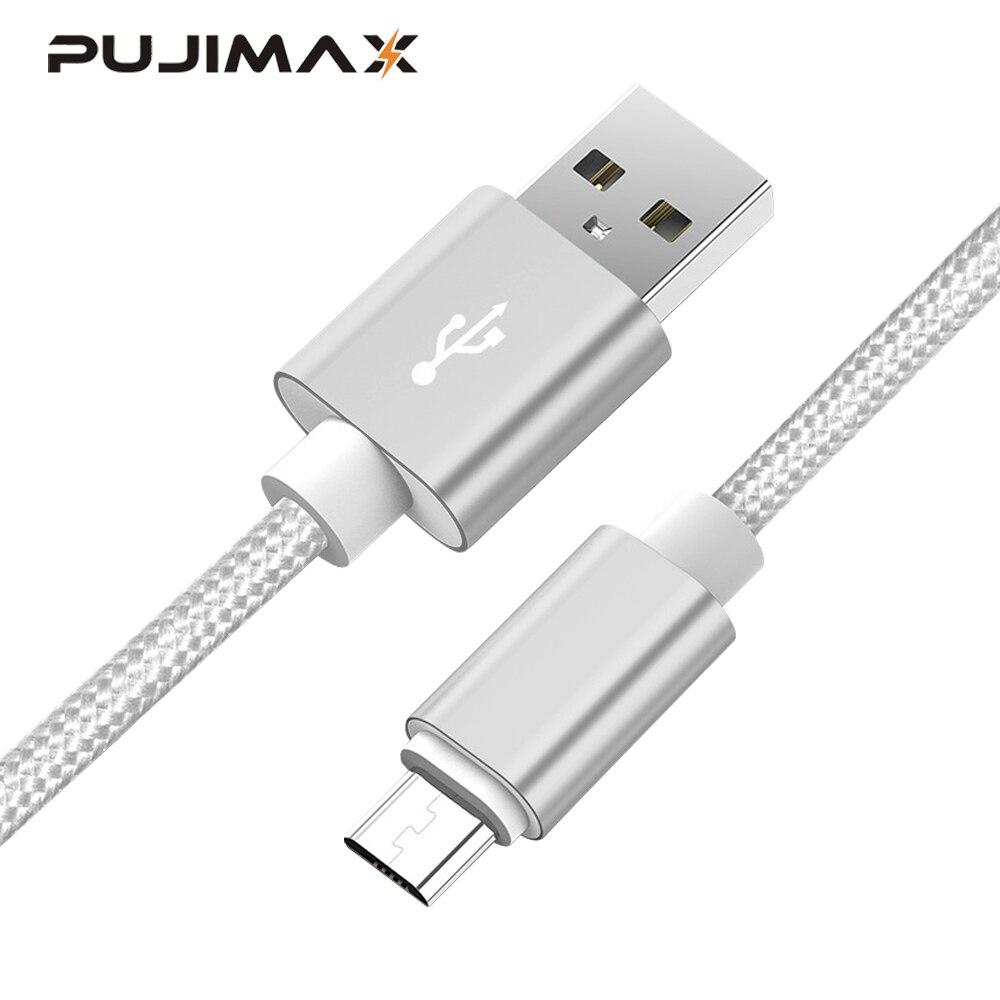 Câble Micro USB PUJIMAX 5V 2.4A câble de chargement de synchronisation de données rapide pour Samsung Huawei Xiaomi LG et riod câbles de téléphone portable Micro usb
