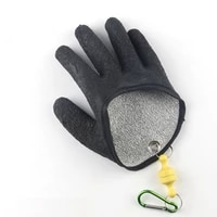 1pcs professional fish grabber glove with magnetic release buckle fishing catch glove easy to wear fishing catching gloves