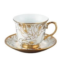 european ceramic golden rim coffee cup and saucer porcelain tea cups espresso cup milk cup classic home party drinkware gift