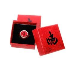 Anime Cosplay Akatsuki Rings With Box Itachi Pain Ring Metal Finger Adult Ninja Props Accessories Cool Stuff Gift