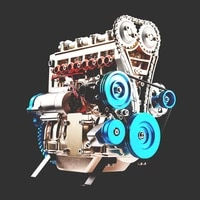 four cylinder engine metal assembly model teaching aids toys gifts ornaments