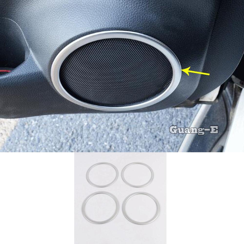 Para Nissan Qashqai 2019 2020 cubierta de puerta de coche Stick ABS cromado Audio Speak Sound Cover anillo circular lámpara moldura 4 Uds