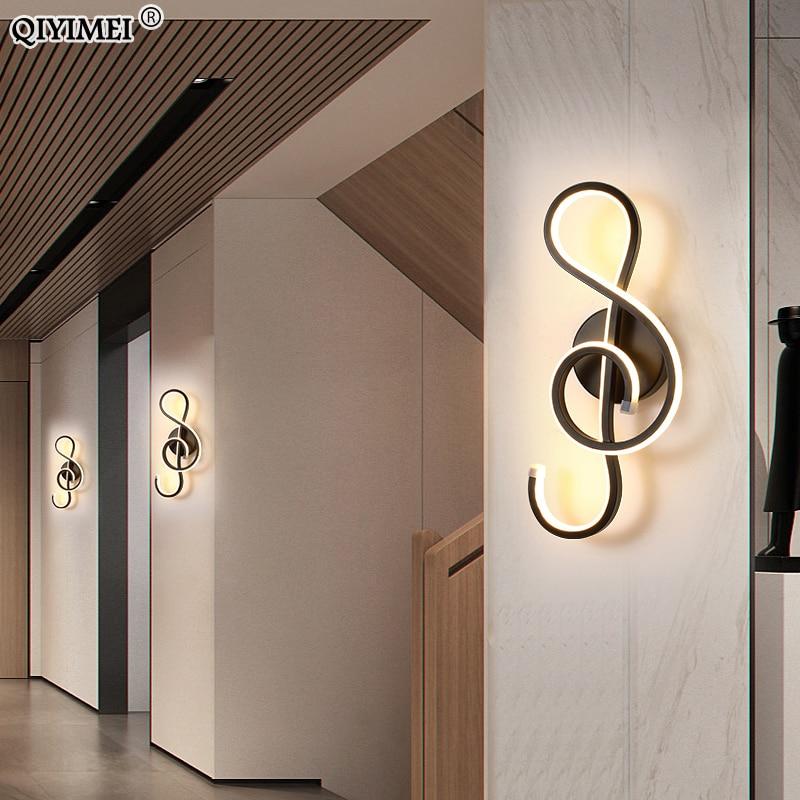 Modern Minimalist Wall Lamps Living Room Bedroom Bedside 16W AC96V-260V LED Sconce black white Lamp Aisle Lighting decoration