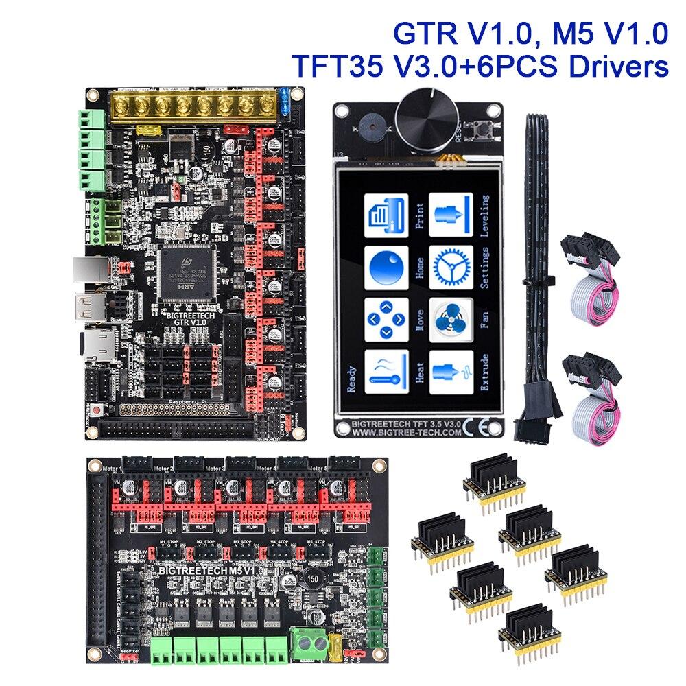 BIGTREETECH GTR V1.0-لوحة تحكم للطابعة ثلاثية الأبعاد ، 32 بت ، M5 V1.0 TFT35 V3.0 ، شاشة تعمل باللمس TMC2209 UART VS SKR V1.4 Turbo ، WIFI