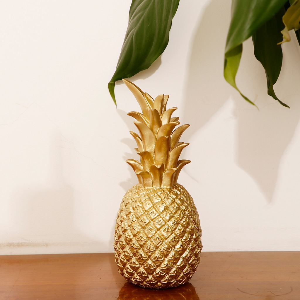 Gold Pineapple Showpiece Beautifully Sculpted Decorative Ornament -L/S  - buy with discount