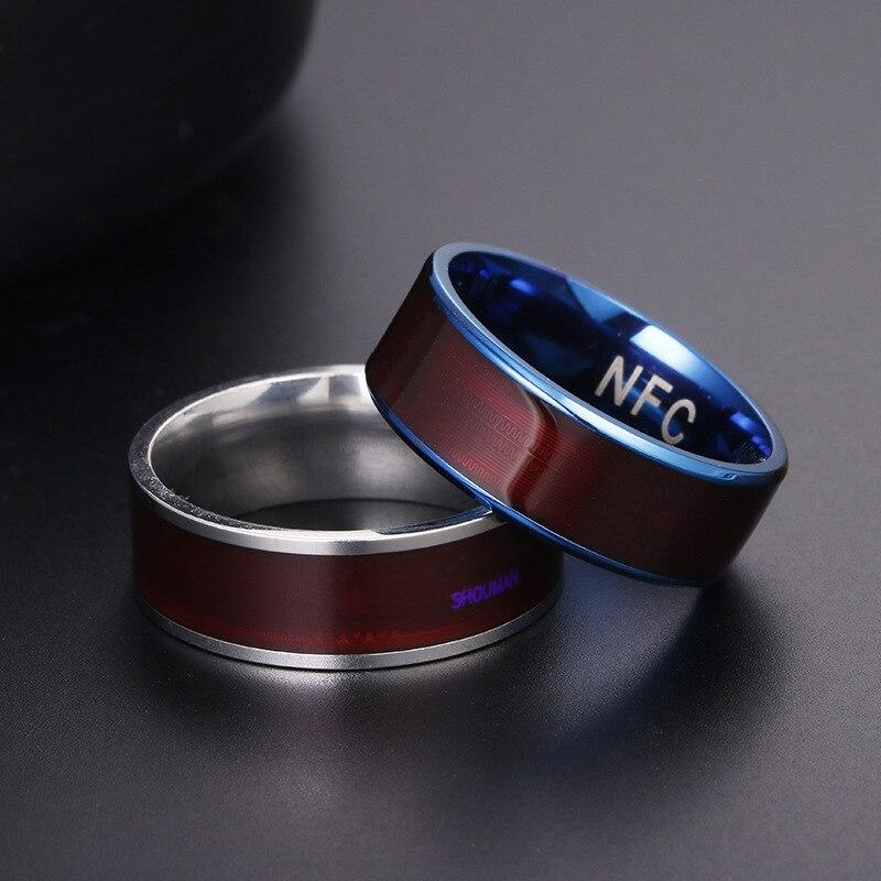 NFC hogar anillo inteligente titanio acero Digital dedo joyería para Android Windows NFC Mobil anillo inteligente joyería inteligente