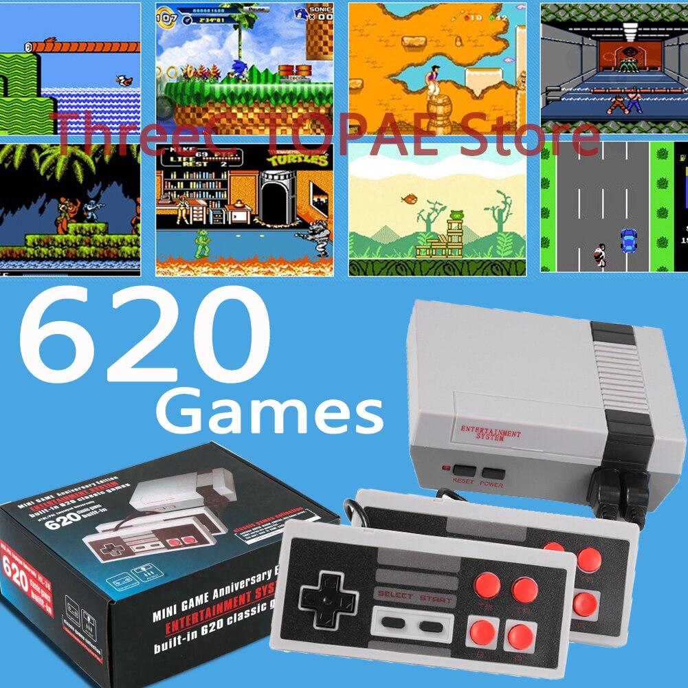 Video Game Console Mini TV Output Handheld AV 8Bit Retro Gaming Player Built-in 621/620 Games Gift Children Adult EU/AU/US Plug
