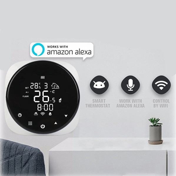 Tuya/Smart Life WiFi Smart Thermostat Temperature Controller For Water/Electric Floor Heating/Water Gas Boiler Alexa Google Home smart wifi tuya thermostat temperature controller gas boiler water heating electric heating thermoregulator floor controller