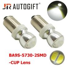 2xBA9S T4W LED luz del coche del bulbo T2W T3W H5W interior del coche LED luz de placa de licencia 2 LED 5630 SMD DC12V 24V Auto Luz de lado para lada