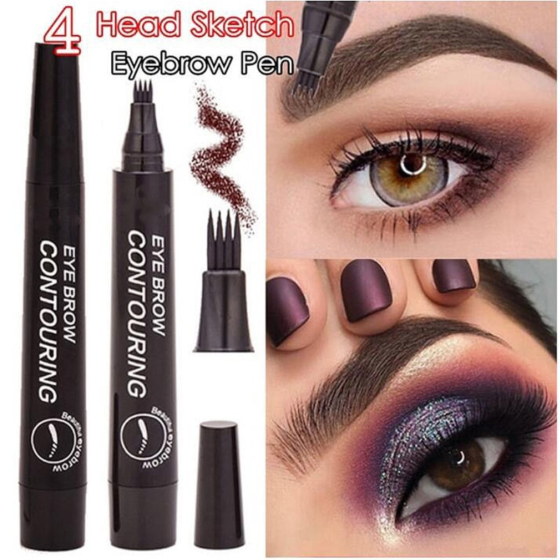 Natural Color Liquid Eyebrow Pencil Waterproof Smudge-proof Fine Sketch Eyebrow Tattoo Pen Long Lasting Makeup TSLM1
