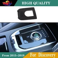 abs carbon fiber color car water cup holder gear shift panel cover for land rover discovery sport 2015 2019 car styling