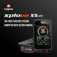 Magene Xplova X5 Evo Wireless GPS Fahrrad Computer Wasserdicht Bluetooth 4,0 ANT + Bike Radfahren Tacho Kadenz Unterstützung Herz Rate