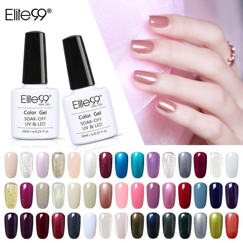 Elite99 10ml puro esmalte de uñas de Gel de colores de Base...