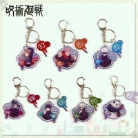 7 styles jujutsu kaisen acrylic animation game peripheral two dimensional keychain backpack accessories pendant