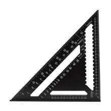 7/12 بوصة متري سرعة مربع متري سبائك الألومنيوم مثلث حاكم ل النجارة قياس مربع قياس النجارين بمناسبة أداة