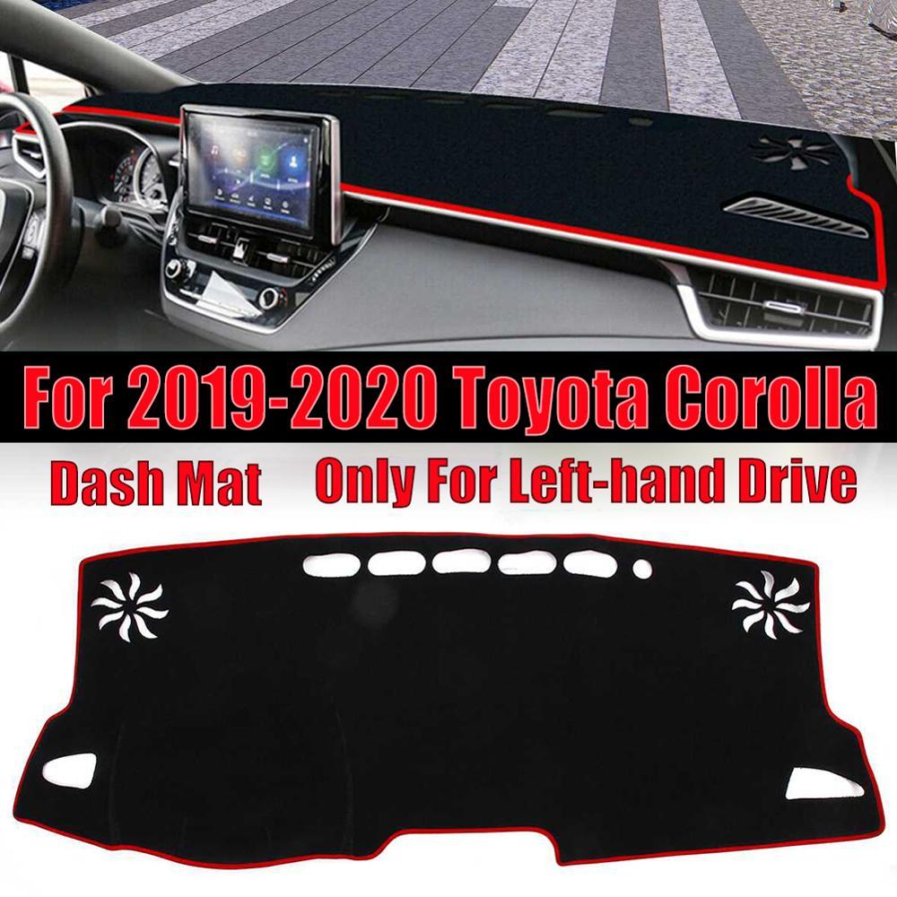 Alfombrilla para salpicadero interior de coche, alfombrilla para salpicadero, parasol para Toyota Corolla 2019 2020, cubierta para salpicadero