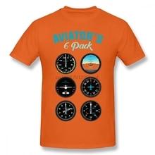 Aviator Six Pack T-shirt For Men Plus Size 5XL 6XL Team Tshirt