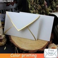 customized 300gsm white cardboard envelope simple white business wedding invitation envelope postcard gift envelope