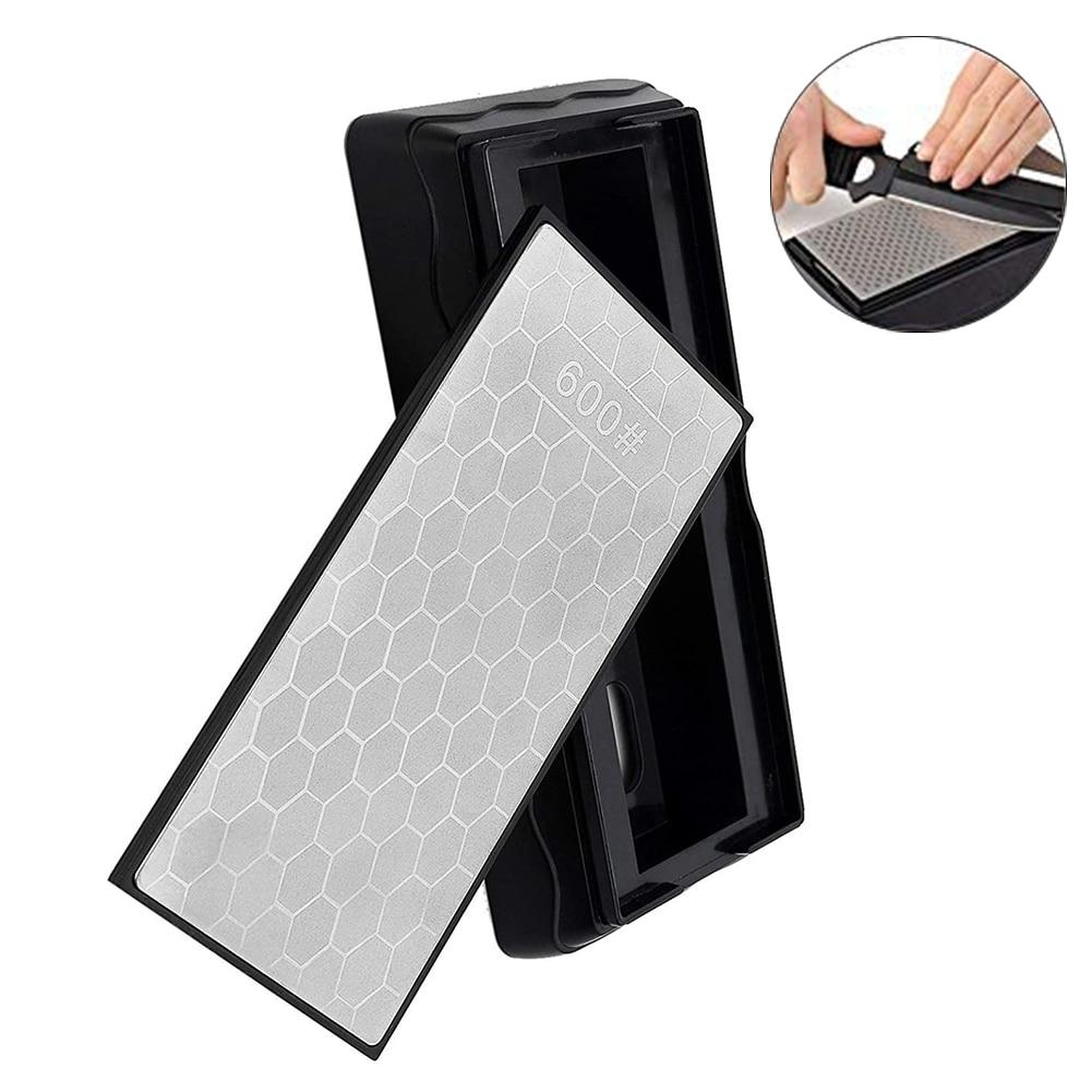 Diamond Knife Sharpening Stone 600# Knife Sharpener Ultra-thin Honeycomb Surface Whetstone Grindstone Cutter Polishing Tool