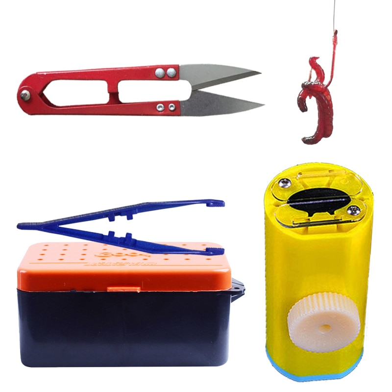 Kit de pesca inteligente Kingfisher, cebo vivo Hooker, gancho rojo para colgar, gusano rojo, gancho seguro, rápido