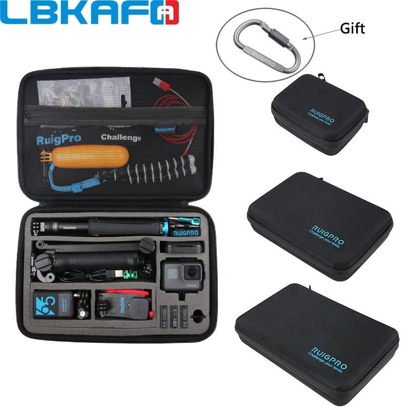 Portable Carry Case Protective Bag for GoPro Hero 8 7 6 5 4 SJCAM SJ9 YI DJI OSMO Action Camera Accessory Anti-shock Storage Box