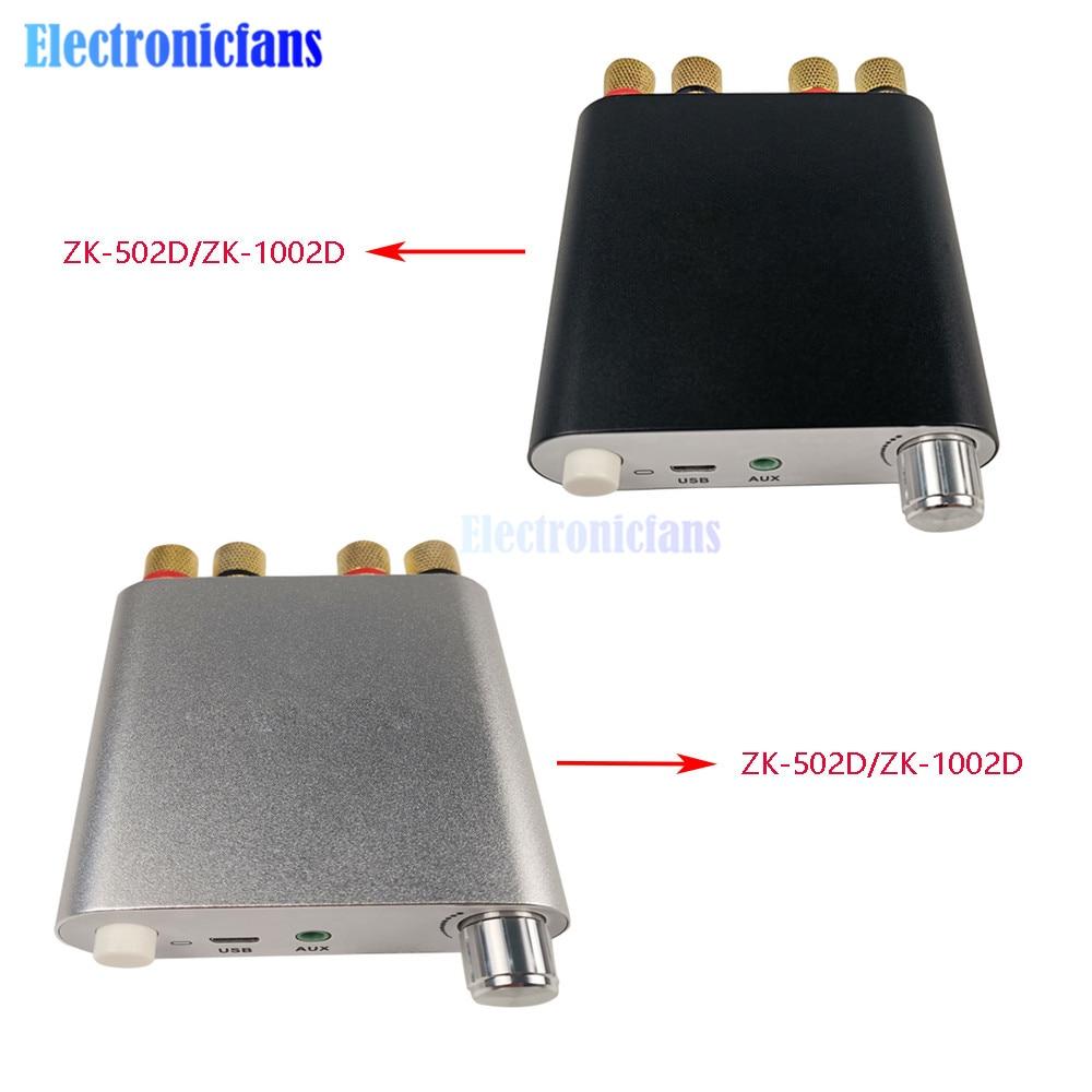 50WX2 100WX2 ZK-502D ZK-1002D Bluetooth 5,0 estéreo inalámbrico amplificador de potencia de Audio de 2,0 canales estéreo Ecualizador para