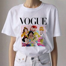 Harajuku Ullzang 90s Graphic Aesthetic Tshirt Fashion Kawaii Top Tees New Vogue Princess T Shirt Women Funny T-shirt