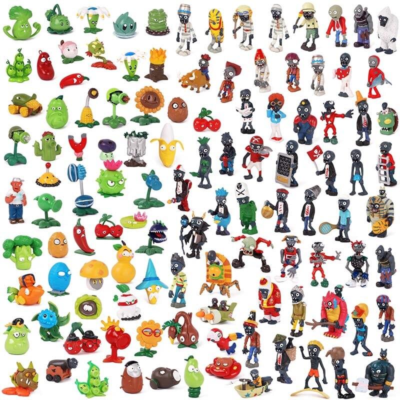 14 estilos juego plantas vs Zombies figura de acción de PVC Hobby colección modelo de sets de muñecas accesorios fiesta para niños regalos de navidad