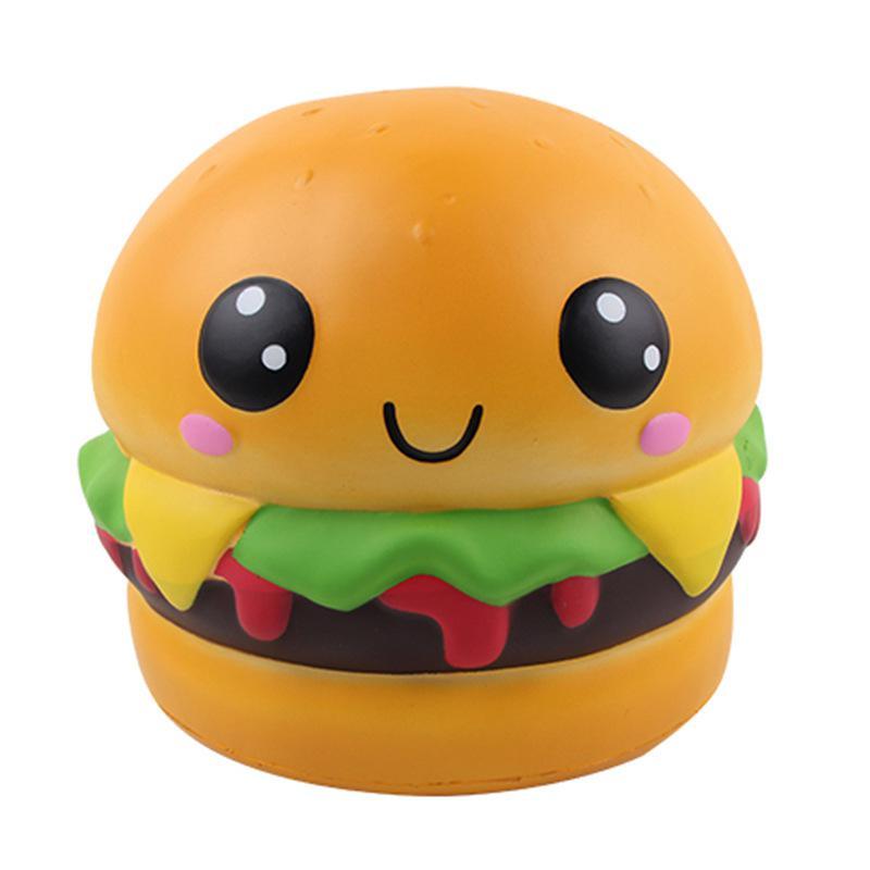 Juguete Squishy grande de 22cm, rebote lento, juguete de descompresión de PU de hamburguesas grandes