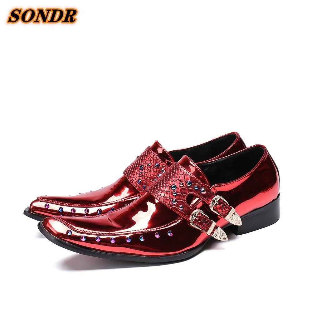 Zapatos Oxford De cuero patentado De lujo para hombres, zapatos De vestir...