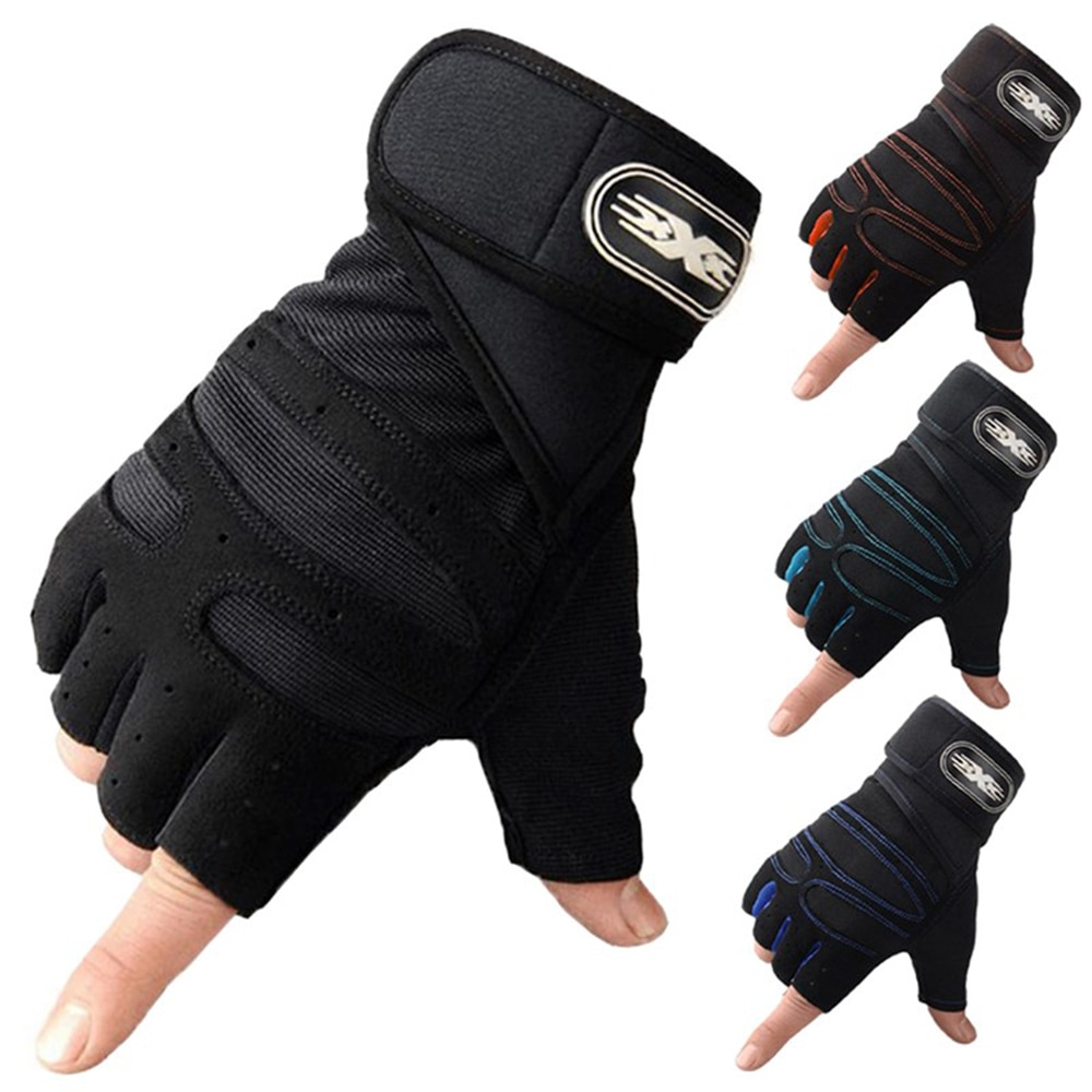 1pair Cycling Gloves Men Women Half Finger Gloves Breathable Anti-shock Anti-slip Bicycle Riding Gloves Outdoors Sports Supplies safety inxs ridding gloves mac836 high quality riding half finger gloves solid anti slip breathable comfort safety gloves