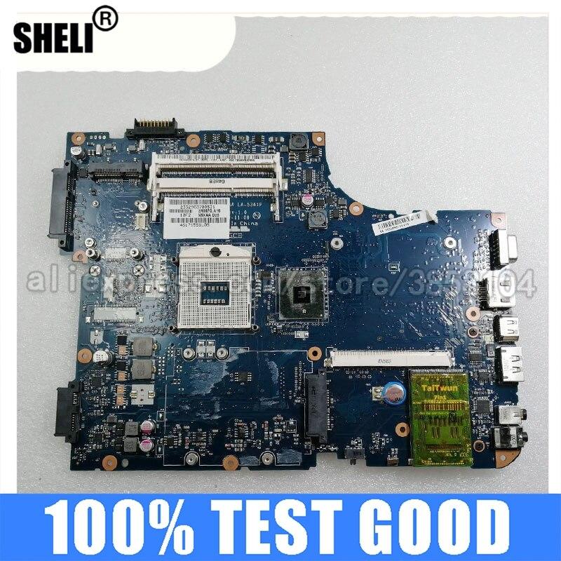 شيلي LA-5361P اللوحة الرئيسية لتوتوشيبا الأقمار الصناعية L500 A500 K000093550 اللوحة الأم للجهاز المحمول HM55 اختبار DDR3 بافيليون إنتل
