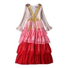 2020 Spring Summer New Women Good Quality Elegant Runway Dress Female V-neck Ruffles Bow Sequined Maxi Dress Vestdios