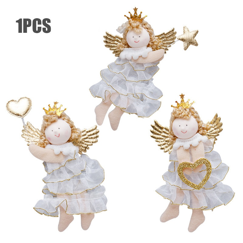 Angel Doll Christmas Ornaments Merry Christmas Decorations for Home Garland Christmas Tree Decor Navidad Xmas 2020 New Year 2021 недорого